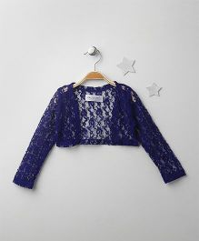 Soul Fairy Classic Lace Shrug - Navy