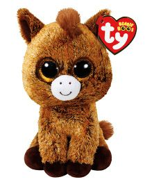 Jungly World Harriet Horse Soft Toy Brown - Height 15 cm