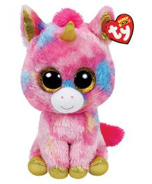 Jungly World Fantasia Unicorn Soft Toy Pink - Height 23 cm