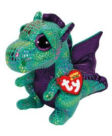 Jungly World Cinder Dragon Soft Toy Green - Height 23 cm