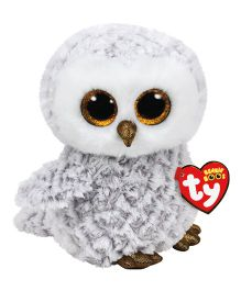 Jungly World Owlette Owl Soft Toy White Grey - Height 23 cm