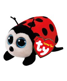 Jungly World Trixy Lady Bug Soft Toy Red Black - Height 10 cm