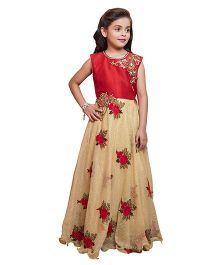 Betty By Tiny Kingdom Floral Print Elegant Gown - Red