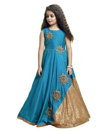 Betty By Tiny Kingdom Smart Ethnic Gown - Blue