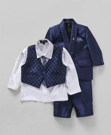 Robo Fry 4 Piece Party Suit With Tie - Royal Blue White
