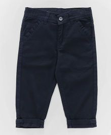 Olio Kids Full Length Trousers With Adjustable Elasticated Waist - Navy Blue