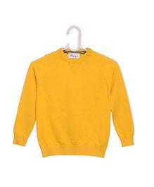 Pre Order - RVK Cotton Woolen Sweater - Yellow