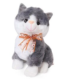 Fun Toys Kitty Soft Toy Grey - Height 30 cm