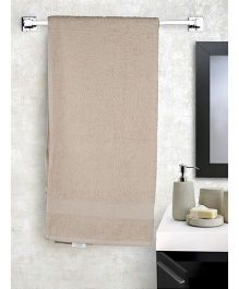 EuroSpa Premium Cotton Baby Bath Towel - Beige