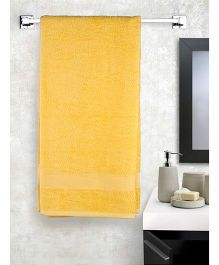 EuroSpa Premium Cotton Baby Bath Towel - Yellow