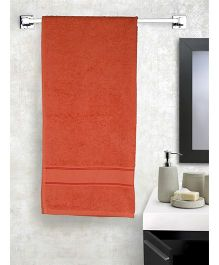EuroSpa Premium Cotton Baby Bath Towel - Orange