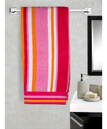 EuroSpa Premium Cotton Baby Bath Multi Print Towel - Multi Colour