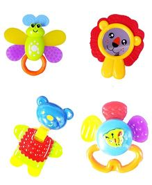 Emob Rattle Toys Pack of 4 - Multicolor