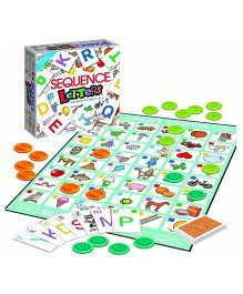 Emob Basic Sequence Letters From A to Z Alphabet Board Game - Multicolor