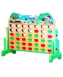 Emob Funny Pick Apple Combine 4 Activity Puzzle Game - Multicolor