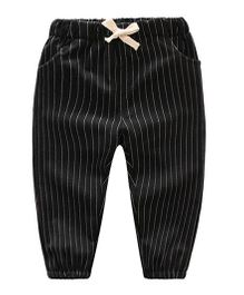 Pre Order - Awabox Striped Pants - Black