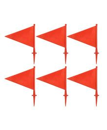 GSI Sports Boundary Flags Pack of 6 - Height 21 cm (Color May Vary)
