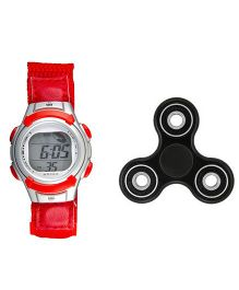 Fantasy World Watch & Spinner Combo - Red