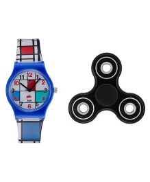 Fantasy World Watch & Spinner Combo - Blue & Black