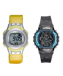 Fantasy World Sport Watch Combo - Yellow & Black