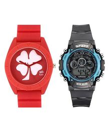 Fantasy World Watch Combo - Red & White
