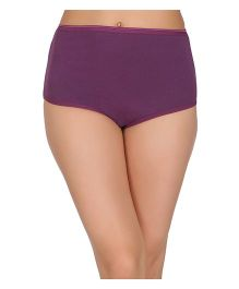 Clovia High Waist Maternity Hipster - Purple
