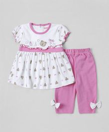 Wonderchild Printed Dress With Pants - Pink