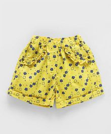 Olio Kids Shorts Floral Print - Yellow