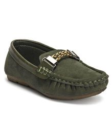 Cute Walk by Babyhug Loafer Shoes - Green