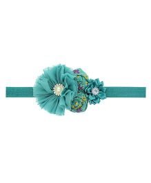 Aadhya Rose Headband- Green