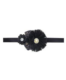 Aadhya Rose Headband- Black