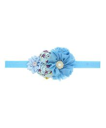 Aadhya Rose Headband- Sky Blue