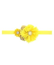 Aadhya Cute Floral Headband - Yellow