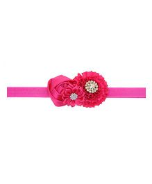 Aadhya Cute Floral Headband - Dark Pink