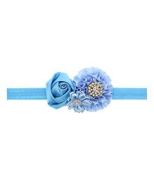 Aadhya Cute Floral Headband- Sky Blue