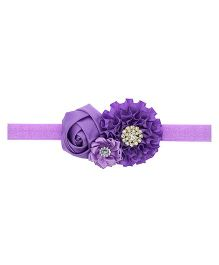 Aadhya Cute Floral Headband- Purple