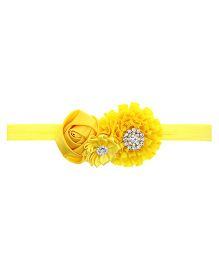 Aadhya Cute Floral Headband- Yellow