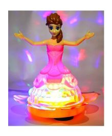 Toyshine Doll With Music & 4D Lights (Colour May Vary)