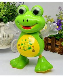 Toyshine Dancing Frog With Music Flashing Lights Green - 17 cm