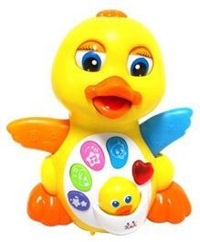 Toyshine Educational Musical Duck Toy - Yellow