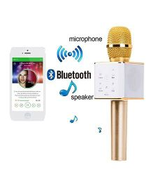 Toyshine Portable Wireless Bluetooth Mike - Golden