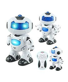 Toyshine Remote Controlled Dancing Robot With Light & Sound - White Blue