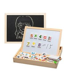Toyshine 2 in 1 Magnetic Writing Board With Blocks & Marker - Multicolour