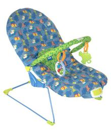 Mee Mee Musical Bouncer Animal Print - Blue Green