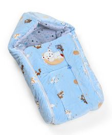 Mee Mee Hooded Carry Nest Teddy Bear Patch - Blue