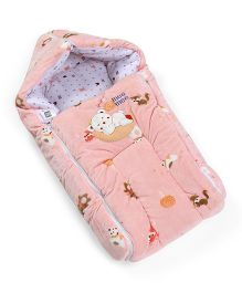 Mee Mee Hooded Carry Nest Teddy Bear Patch - Pink