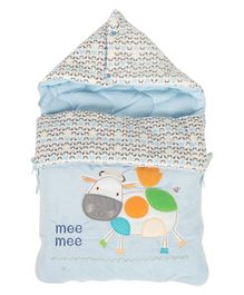 Mee Mee Hooded Carry Nest Cow Patch - Blue