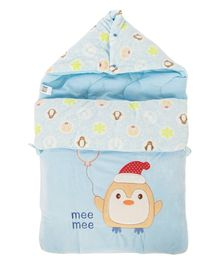 Mee Mee Hooded Carry Nest Penguin Patch - Blue