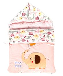 Mee Mee Hooded Carry Nest Elephant Patch - Pink