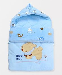 Mee Mee Hooded Carry Nest Doggy Patch - Blue